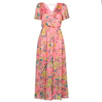 Clothing Women Long Dresses Naf Naf LEJARDIN R1 Pink