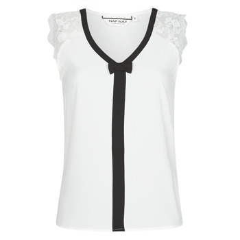 Clothing Women Tops / Blouses Naf Naf CORAZON White