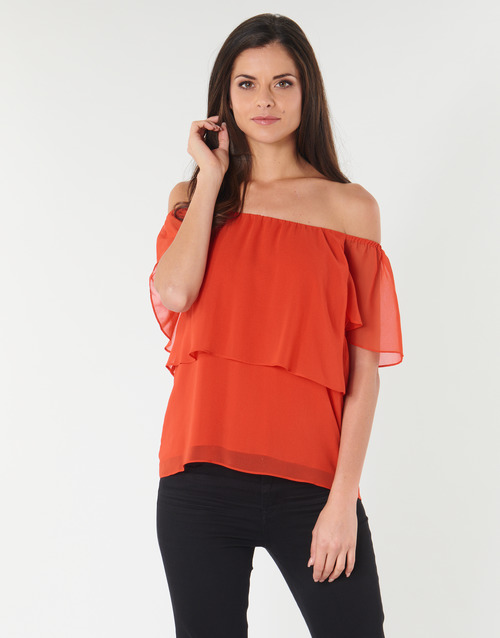 Clothing Women Tops / Blouses Naf Naf LINDA C1 Red