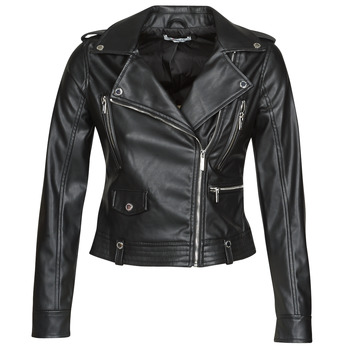 Clothing Women Leather jackets / Imitation leather Morgan GAMMA Black