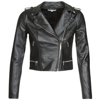 Clothing Women Leather jackets / Imitation leather Morgan GCURO Black