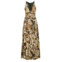 Clothing Women Long Dresses Marciano SANDSCAPE MAXI DRESS Beige