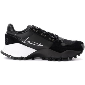 Shoes Men Low top trainers Y-3 Kyoi Trail sneaker in black leather with side signature Black