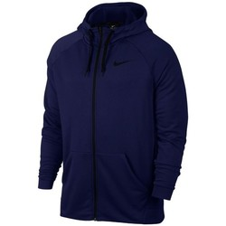 Clothing Men Sweaters Nike Dry FZ Fleece Hoodie Trening Navy blue