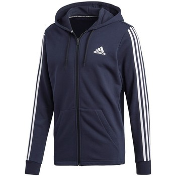 Clothing Men Sweaters adidas Originals Must Have 3STRIPES FZ FT Navy blue