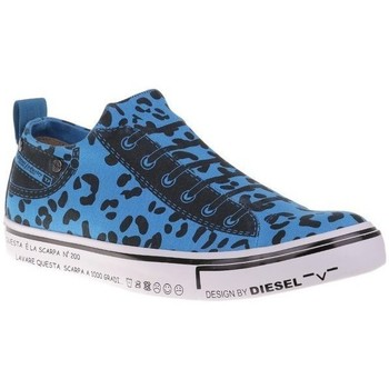 Shoes Men Low top trainers Diesel Imaginee Low Slipon Black, Blue