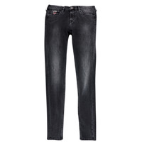 Clothing Girl slim jeans Pepe jeans PAULETTE Black