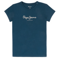 Clothing Girl Short-sleeved t-shirts Pepe jeans HANA GLITTER Marine
