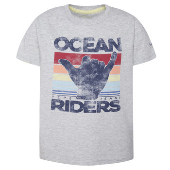 Clothing Boy short-sleeved t-shirts Pepe jeans ACHILLE Grey