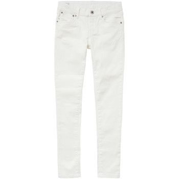 Clothing Girl slim jeans Pepe jeans PIXLETTE White