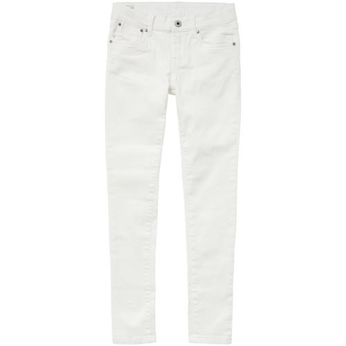 Clothing Girl slim jeans Pepe jeans PIXLETTE White