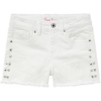 Clothing Girl Shorts / Bermudas Pepe jeans ELSY White