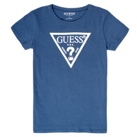 Clothing Girl Short-sleeved t-shirts Guess GIULIO Blue
