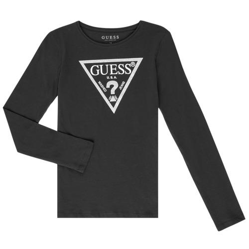 Clothing Girl Long sleeved tee-shirts Guess GARICE Black