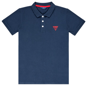 Clothing Boy Short-sleeved polo shirts Guess HOSNI Marine