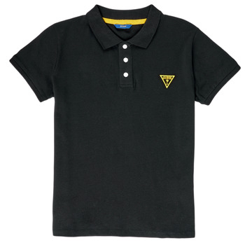 Clothing Boy short-sleeved polo shirts Guess HADEL Black