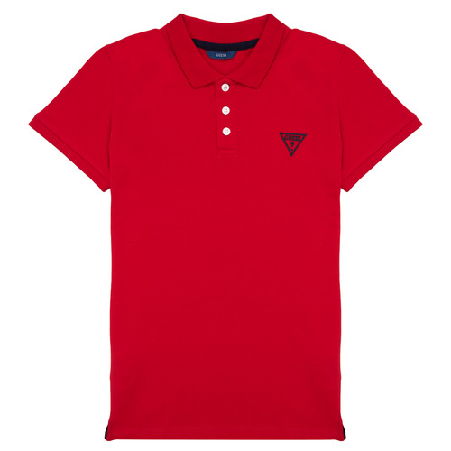 Clothing Boy Short-sleeved polo shirts Guess HARRY Red