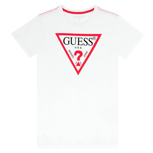 Clothing Boy Short-sleeved t-shirts Guess HAIM White