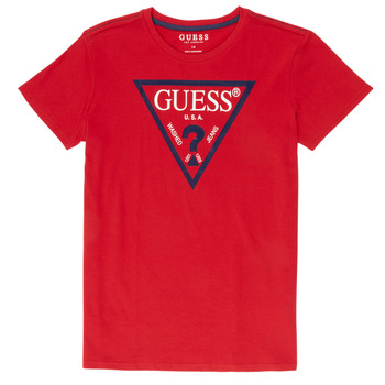Clothing Boy short-sleeved t-shirts Guess  Red