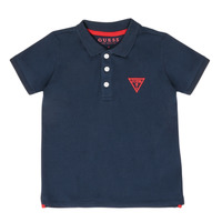 Clothing Boy short-sleeved polo shirts Guess HOUSSI Marine