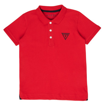 Clothing Boy short-sleeved polo shirts Guess HOANG Red