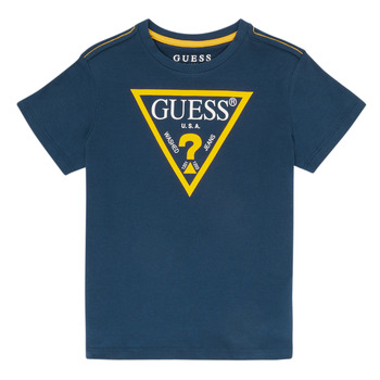 Clothing Boy Short-sleeved t-shirts Guess IAN Marine