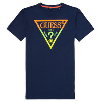 Clothing Boy Short-sleeved t-shirts Guess JOSEPH Marine
