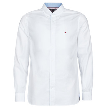 Clothing Men long-sleeved shirts Tommy Hilfiger HYPER CLASSIC TWILL SHIRT Ecru