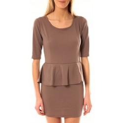 Clothing Women Short Dresses Tcqb Robe Moda Fashion Taupe Brown