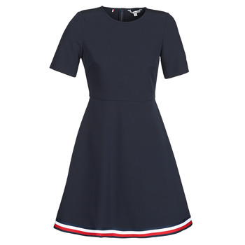 Clothing Women Short Dresses Tommy Hilfiger ANGELA GLB STP Marine