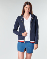 Clothing Women sweaters Tommy Hilfiger HERITAGE ZIP THROUGH HOODIE Marine