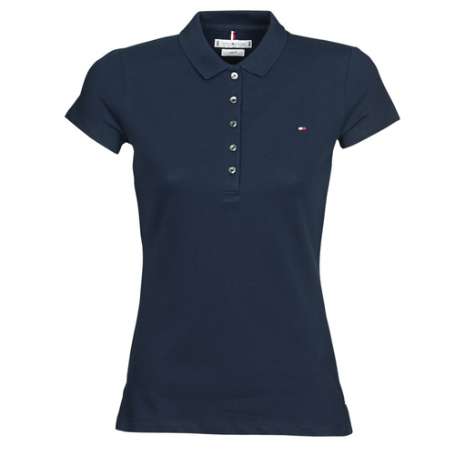 Clothing Women short-sleeved polo shirts Tommy Hilfiger HERITAGE SS SLIM POLO Marine
