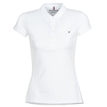 Clothing Women short-sleeved polo shirts Tommy Hilfiger HERITAGE SS SLIM POLO Blc