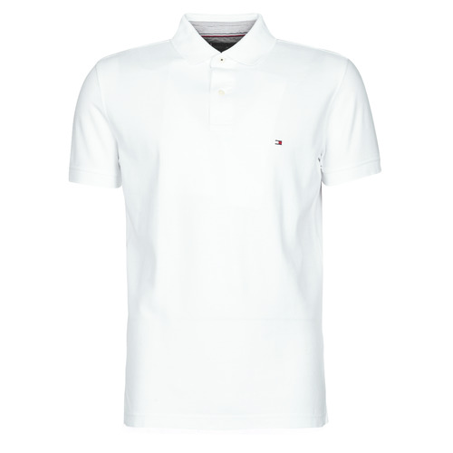 Clothing Men Short-sleeved polo shirts Tommy Hilfiger HILFIGER REGULAR POLO White