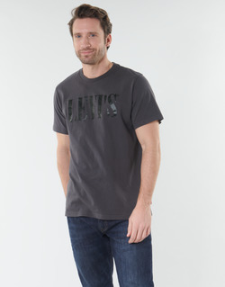 Clothing Men Short-sleeved t-shirts Levi's RELAXED GRAPHIC TEE Grey