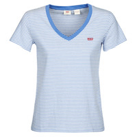 Clothing Women Short-sleeved t-shirts Levi's PERFECT VNECK White / Blue