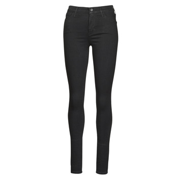 Clothing Women Skinny jeans Levi's 720 HIRISE SUPER SKINNY  black / Galaxy