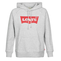 Clothing Women sweaters Levi's GRAPHIC SPORT HOODIE Grey / Mottled