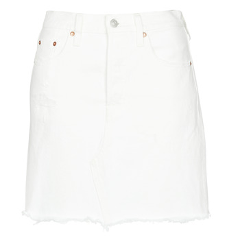Clothing Women Skirts Levi's HR DECON ICONIC BF SKIRT Pearly / White