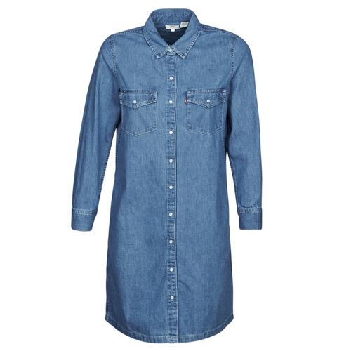 Clothing Women Short Dresses Levi's SELMA DRESS Blue