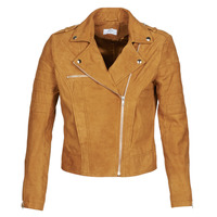Clothing Women Leather jackets / Imitation leather Betty London MOSTILI Cognac