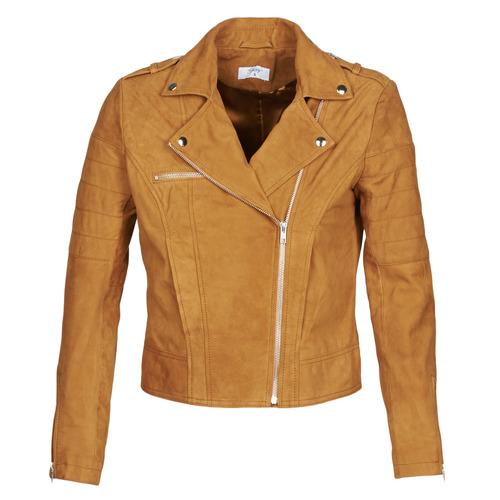 Clothing Women Leather jackets / Imitation leather Betty London MARILINE Cognac