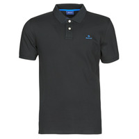 Clothing Men short-sleeved polo shirts Gant GANT CONTRAST COLLAR PIQUE POLO Black / Blue