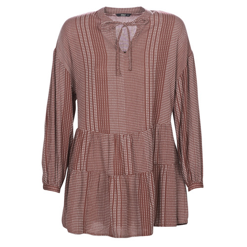 Clothing Women Short Dresses Only ONLNEW Bordeaux
