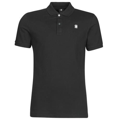 Clothing Men short-sleeved polo shirts G-Star Raw DUNDA SLIM POLO SS Black