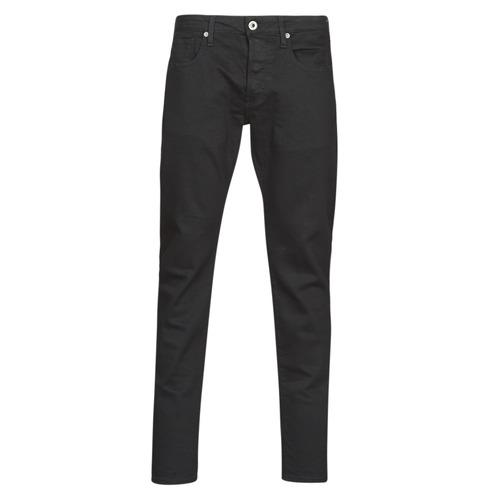 Clothing Men Slim jeans G-Star Raw 3301 SLIM Black