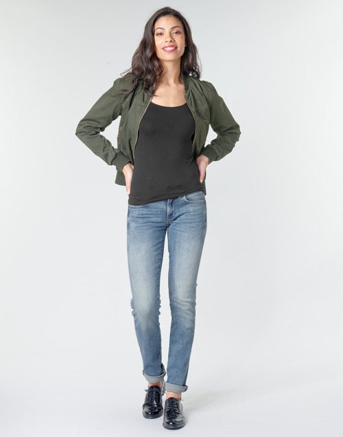 Clothing Women straight jeans G-Star Raw MIDGE MID STRAIGHT WMN Blue