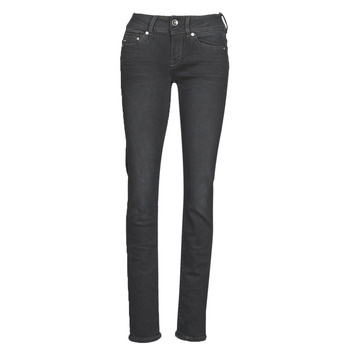 Clothing Women straight jeans G-Star Raw MIDGE MID STRAIGHT WMN Grey / Dark