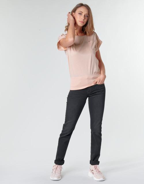 Clothing Women Straight jeans G-Star Raw MIDGE MID STRAIGHT WMN Grey / Dark