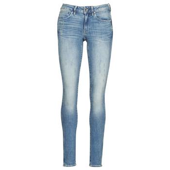Clothing Women Skinny jeans G-Star Raw Midge Zip Mid Skinny Wmn Lt / Vintage / Aged / Destroy